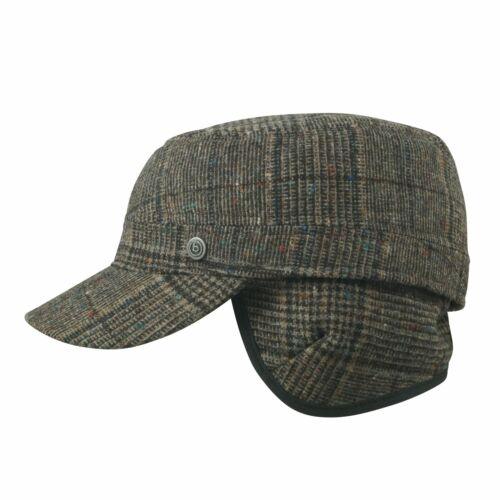 100/% laine Bugatti hiver Armycap-Femmes Hommes Parapluie Bonnet avec oreilles rabats