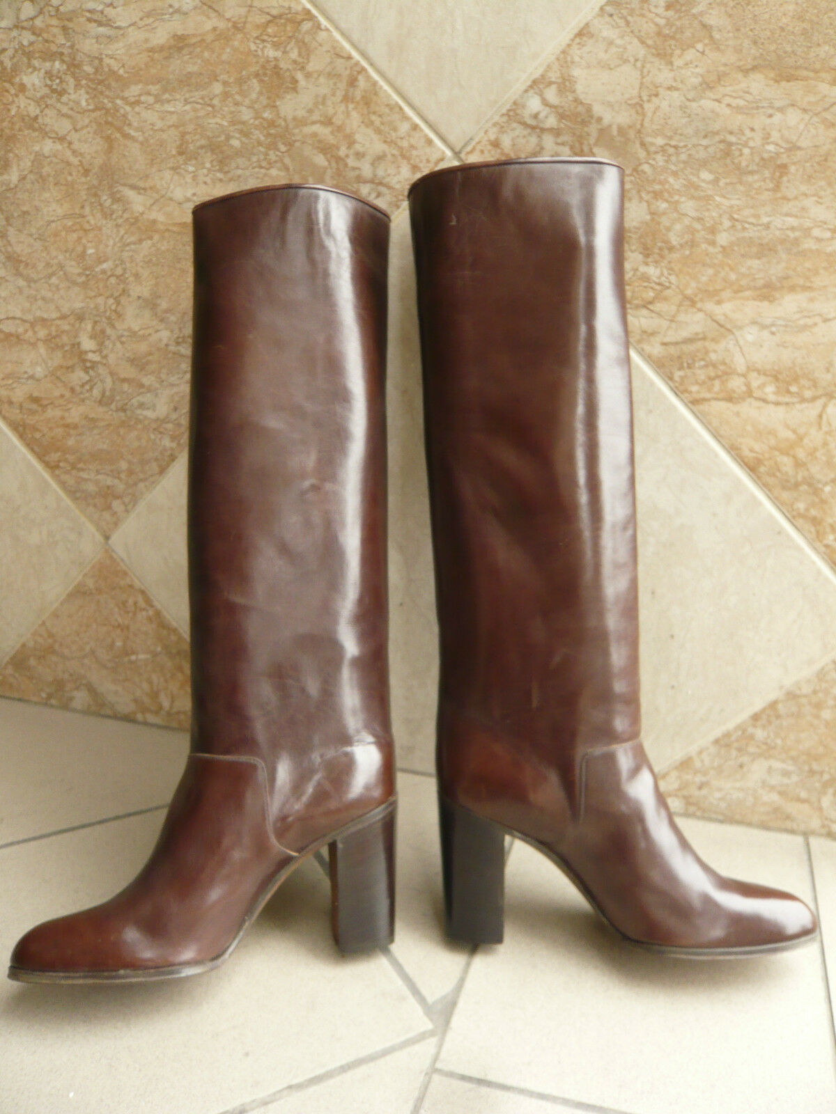 Bottes  vintage   1982  -    JOCELYN Paris    -   (Marron)    -  38,5