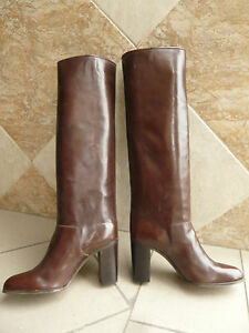Bottes-vintage-1982-JOCELYN-Paris-Marron-38-5
