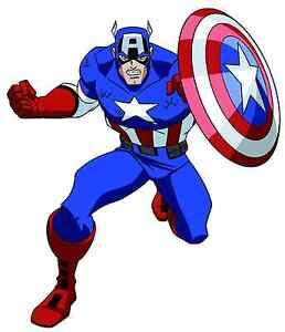 Captain-America-Vinyle-autocollant-Decal-6-034-Full-Color