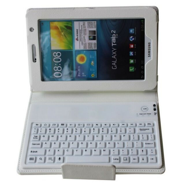 Wireless Bluetooth Keyboard leather Case For Samsung Galaxy Tab3 7.0 P3200 T210
