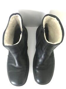 Rieker Men's Black Leather Warm Fleece