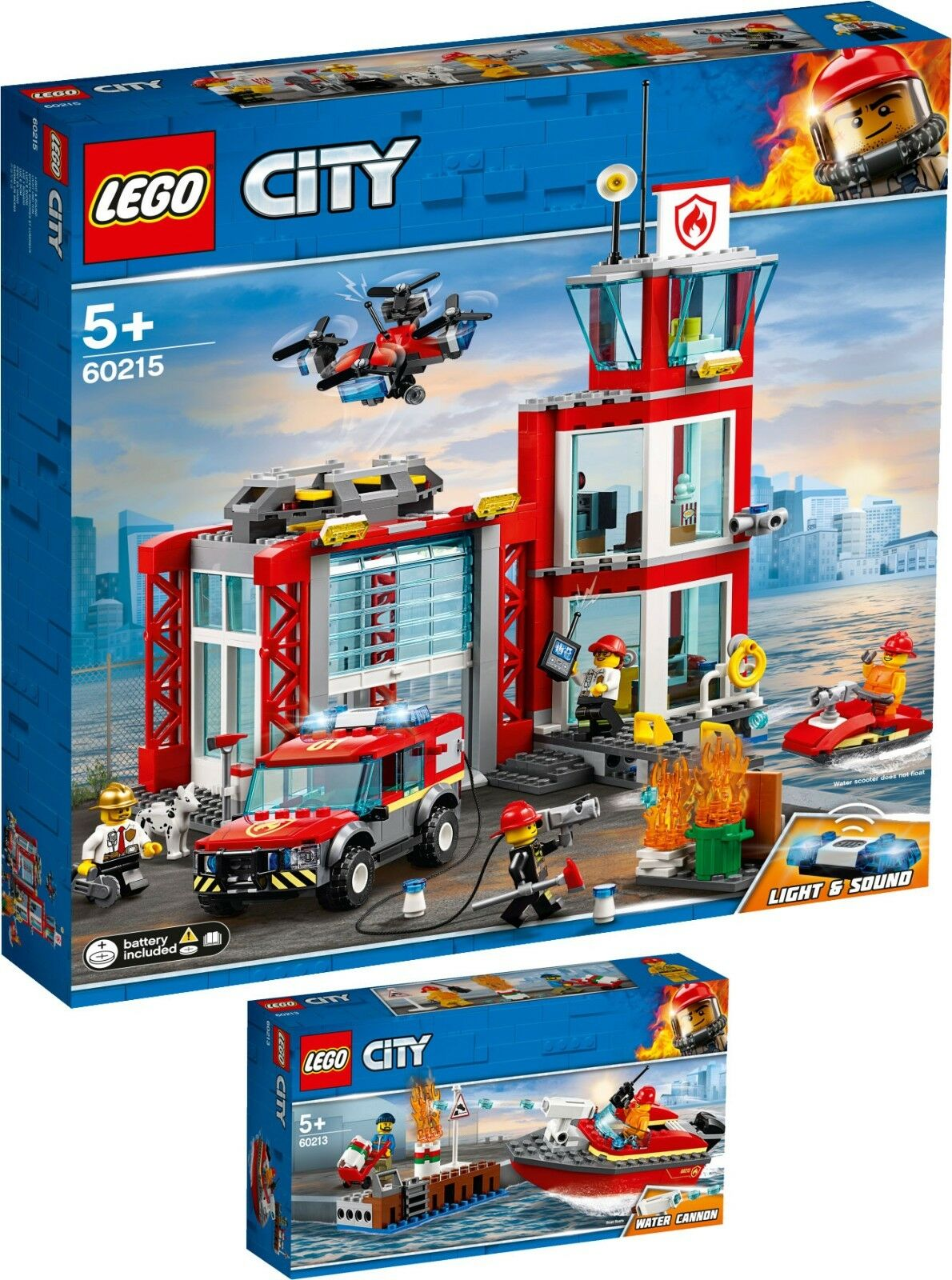 LEGO ® City 60215 60213 Pompiers-Station + pompiers au port n3 19