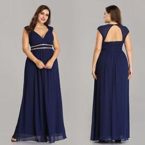 1b2af7023f0 Ever-Pretty US Plus Size Bridesmaid Dresses Long Chiffon Formal Prom ...