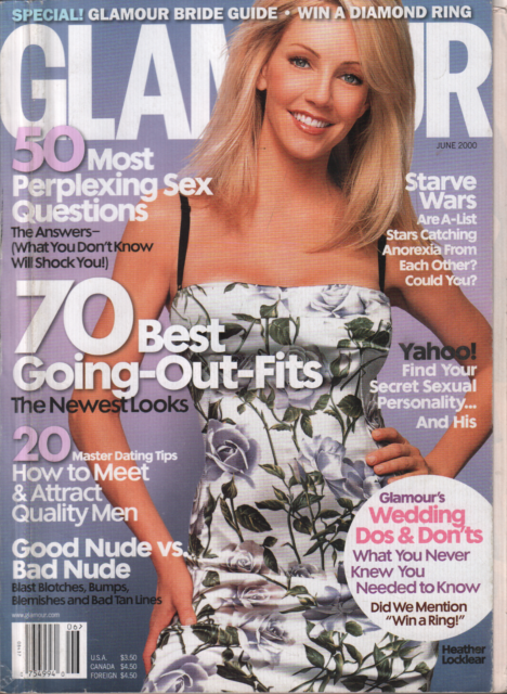 Glamour Magazine - Heather Locklear cover (June 2000