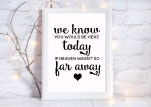 wedding-here-today-heaven-not-far-away-quote-a4-gloss-print-unframed-6-Picture