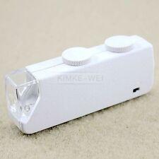 Taschenmikroskop mit 60-100facher Vergrößerung weiß