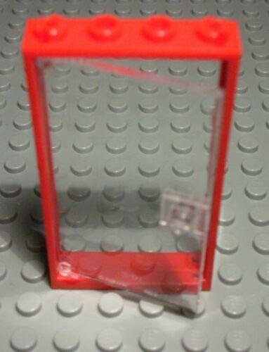 Lego Tür 1x4x6 Rot mit Transparenter Tür 172