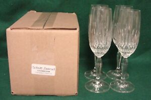 Schott-Zwiesel-CELEBRATION-Champagne-Flutes-SET-OF-FOUR-Mint-in-BOX-More-Here