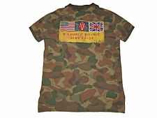 Polo Ralph Lauren Army Camouflage Camo Military USA Flag Shirt L
