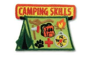 Girl Boy Cub  CAMPING SKILLS  Fun Patches Crests Badges SCOUTS GUIDE Outdoor