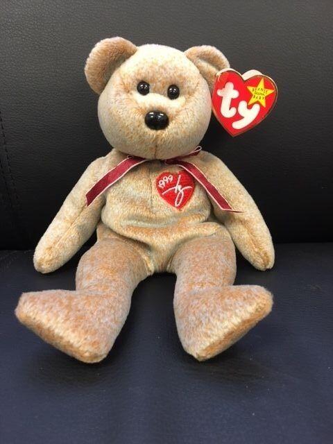 Ty beanie baby 1999 unterschrift tragen selten  teddy  mit tags im ruhestand