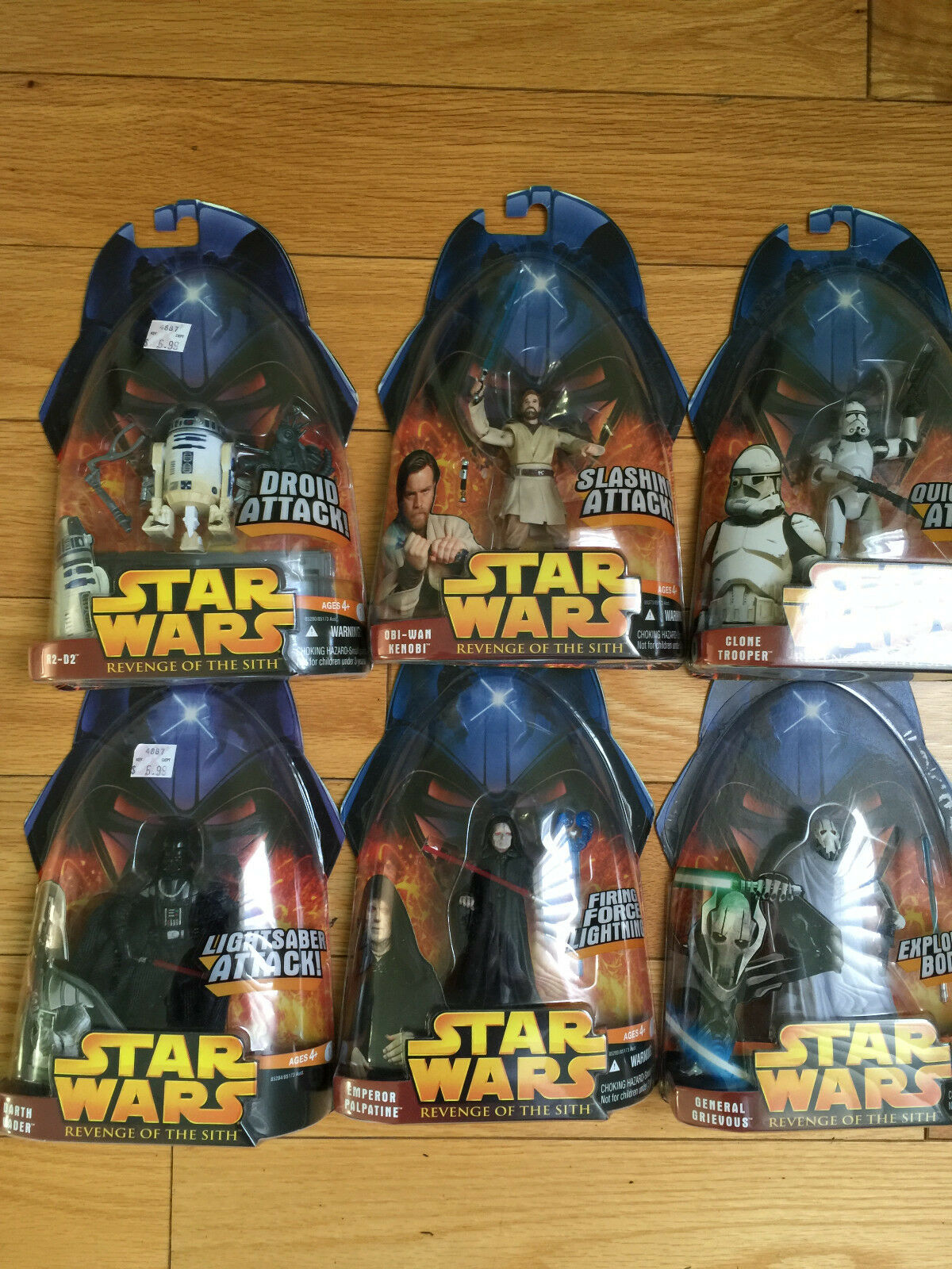 Star Wars Revenge of the Sith Line  Action Figure, Set of 7