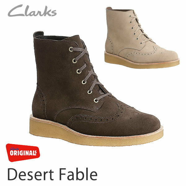 Clarks Originals Da Uomo ** DESERTO Fable ** marrone in pelle scamosciata ** /US 9 G