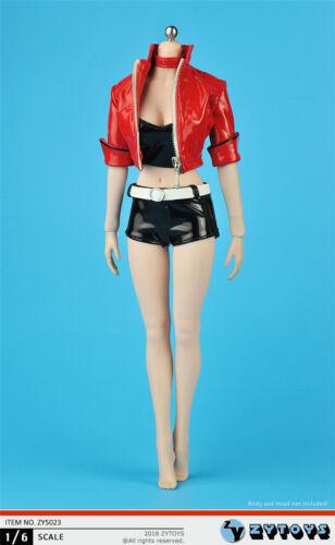 "1//6 ZYTOYS ZY5023 Women/'s Short Leather Hot Pants Suit F 12/"" Female Body"
