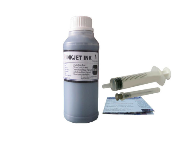 10oz Black Refill ink for HP 02 02XL 58 101 564 920 Cartridges and CISS +Syringe