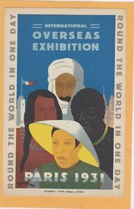 Multicultural International Postcard - Chinese African Arab Native American Expo