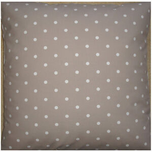 NEW-Large-24-034-Floor-Cushion-Cover-Taupe-Mushroom-Brown-White-Polka-Dots-Spots
