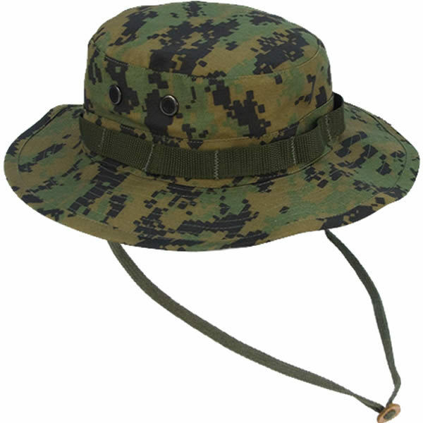 66215863c39 Rothco Ultra Force Military Style Digital Woodland Camo Boonie Jungle Sun  Hat 7 3 4 for sale online