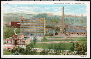 JEANNETTE-PA-Pennsylvania-Rubber-Company-Factory-Plant-Vtg-Postcard-Early-Old-PC