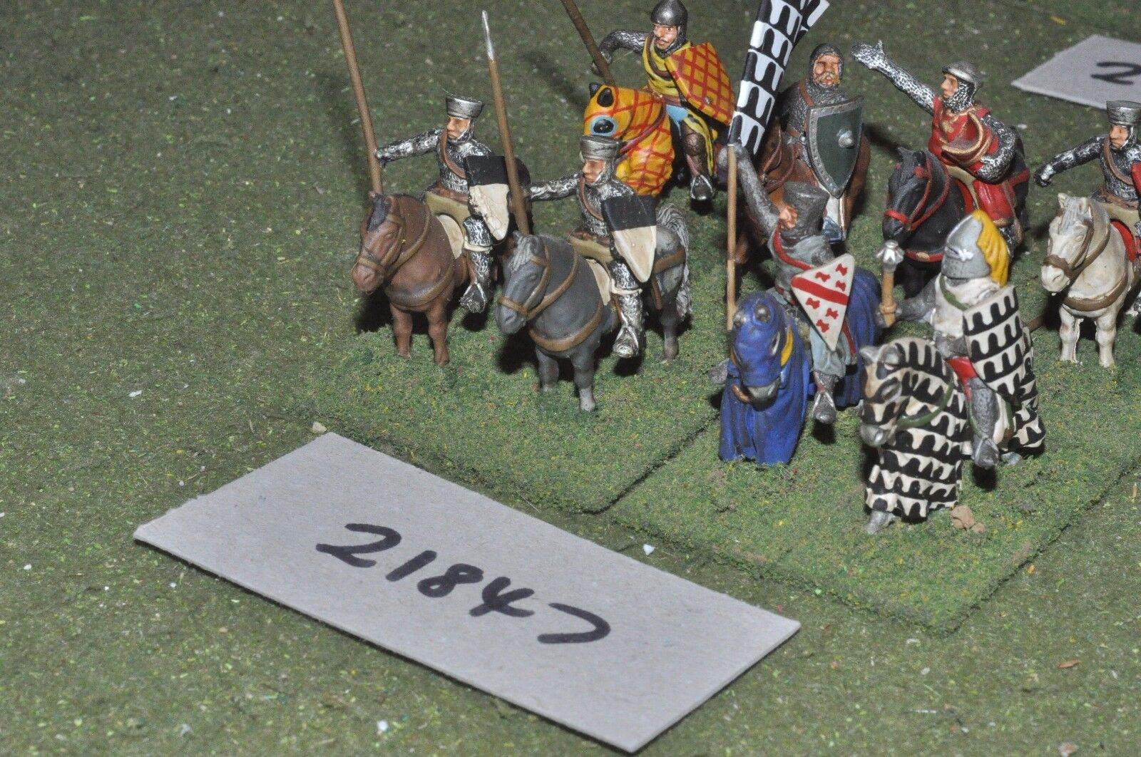 25mm medieval   english - men at arms 8 figs cavalry - cav (21847)
