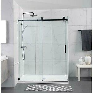 Hometo 55 W x 65 H Single Sliding Frameless Shower Door Canada Preview
