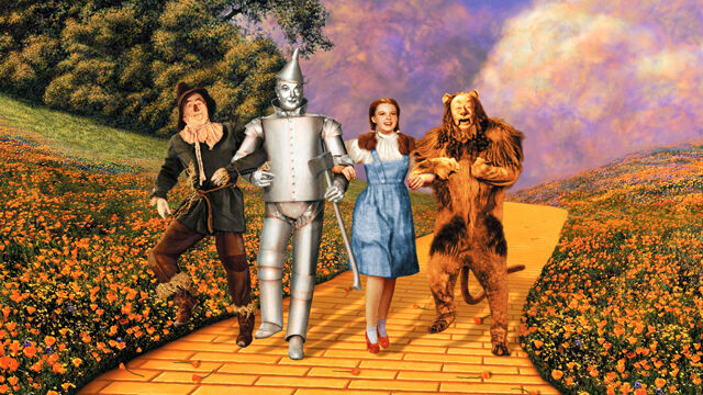 WIZARD OF OZ YELLOW BRICK ROAD POSTER 24x36 MOVIE DOROTHY CAST 4545