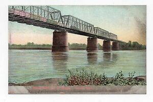 DB-Postcard-Union-Pacific-R-R-Railroad-Bridge-Omaha-Nebraska