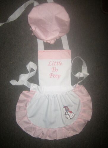 GIRLS LITTLE BO PEEP COSTUME APRON /& MOP TOP HAT M2O Most colors please ask