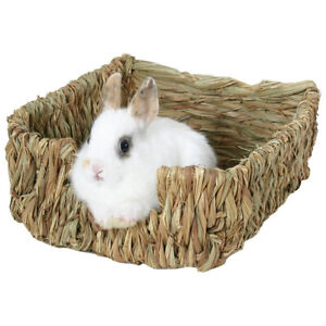 Woven-Grass-Small-Pet-Rabbit-Hamster-Guinea-Pig-Cage-Nest-House-Chew-Toy-Bed-New