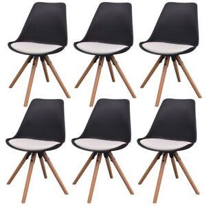 Vidaxl 2 4 6x sedie da pranzo in similpelle legno salotto for Sedie in similpelle