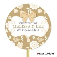 ❤ 20 PERSONALISED Cup Cake Toppers | Floral Wedding | Cupcake Decoration ❤