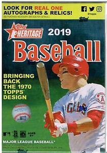 1-2019-Topps-Heritage-Baseball-Factory-Sealed-Unopened-Blaster-Box-8-Packs