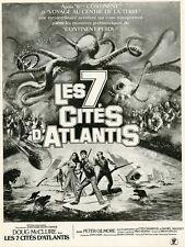 """""""LES 7 CITES D'ATLANTIS (WARLORDS OF ATLANTIS)"""" Annonce originale entoilée 1978"""