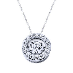 Womens-Day-Round-Topaz-Halo-Pendant-W-18-034-Chain-14k-Gold-Over-925-Silver