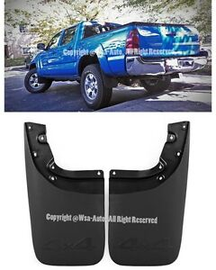 Front Rear 4pcs For Toyota Tacoma 05-15 Kit Set Mud Flaps Splash Guard Mudguard