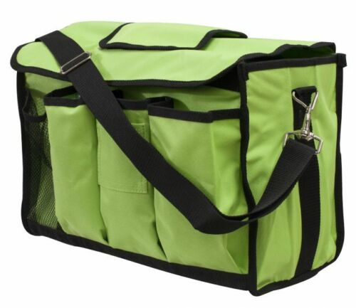 LIME GREEN Nylon Cordura Horse Grooming Carrier by Showman NEW HORSE TACK!