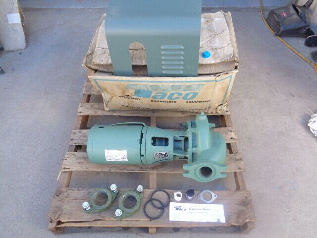 Taco 2 Bronze Centrifugal Pump 1634b6e2 6 15 With Us Motors Motor S63cxhzw 7057 For Sale Online Ebay