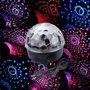 RGB Crystal LED Magic Ball Projector Stage Effect Light for DJ Disco Club PartEK