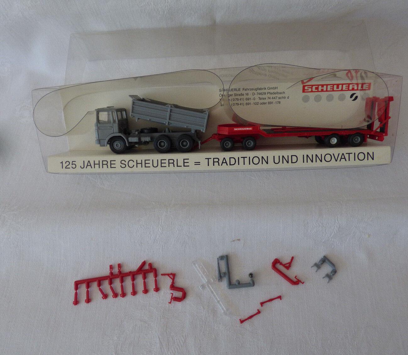 KIBRI 1  87-h0-on benne  remorque 125 ans Scheuerle-terminé modèle