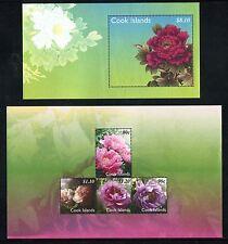 Cook Island 1262-1263, MNH, 2011 Flower, Flora, x27193