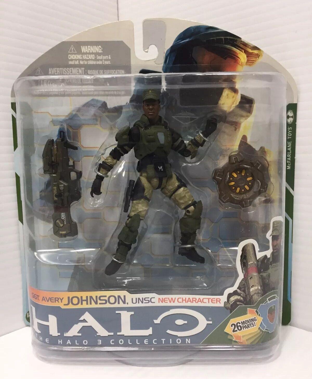 Mcfarlane  Halo 3 Collection Sgt Avery Johnson Factory Sealed  livraison gratuite et échanges.