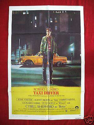 TAXI DRIVER * 1976 ORIGINAL MOVIE POSTER ONE SHEET ROBERT DENIRO MARTIN SCORSESE