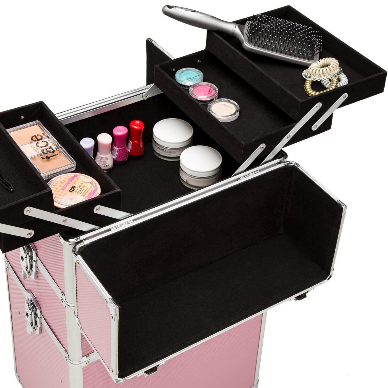 Alu Valise à Cosmétiques Trolley à Maquillage a Roulettes Roulettes Roulettes Beaute Salon Coiffure 905112