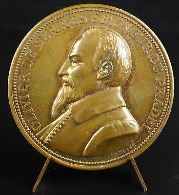 Abundante Médaille Olivier De Serres Seigneur Du Pradel Père Agronomie Française Medal