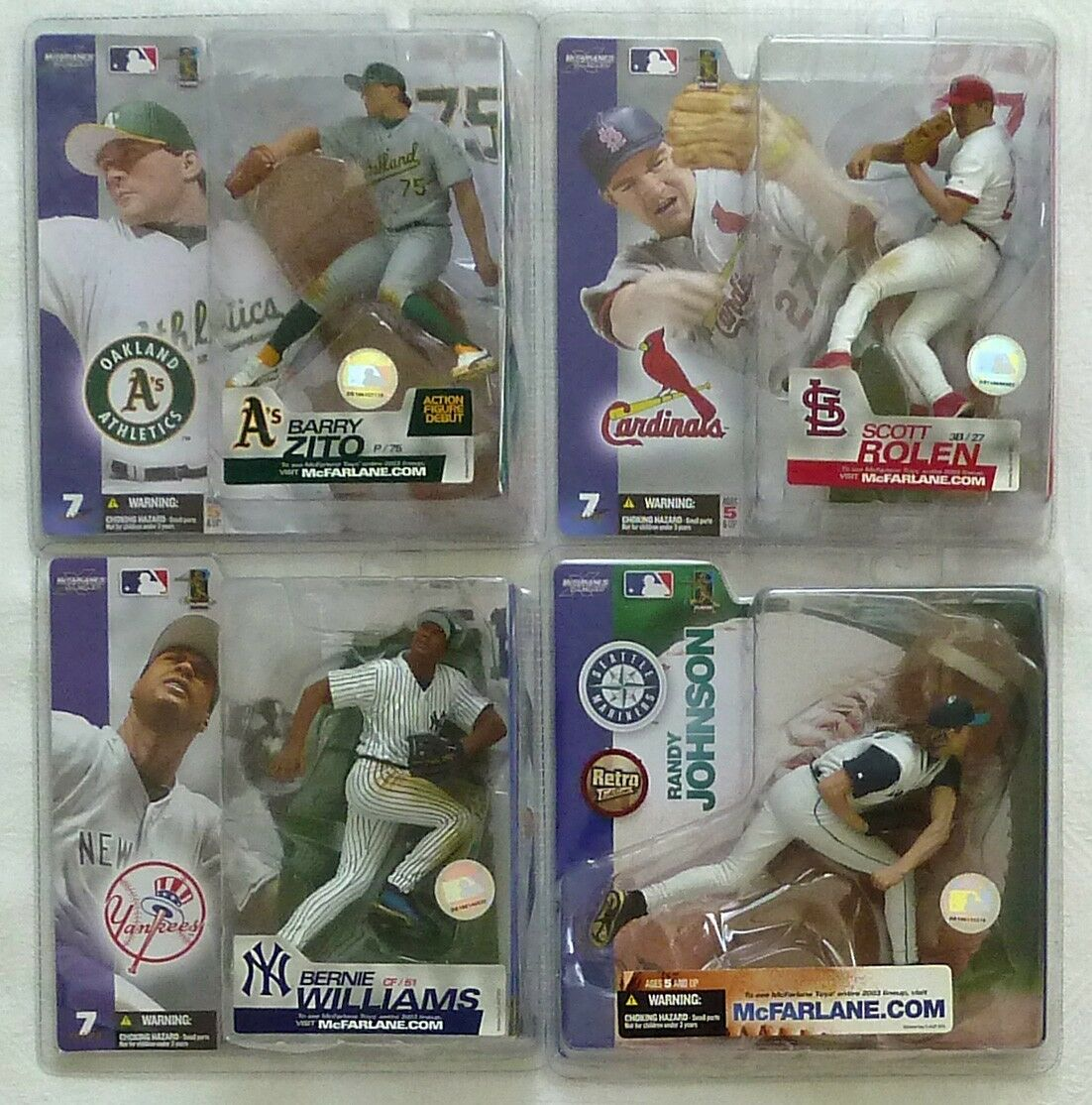 McFarlane MLB 7 COMPLETE CHASE VARIANT Johnson, Rolen, Williams, Zito