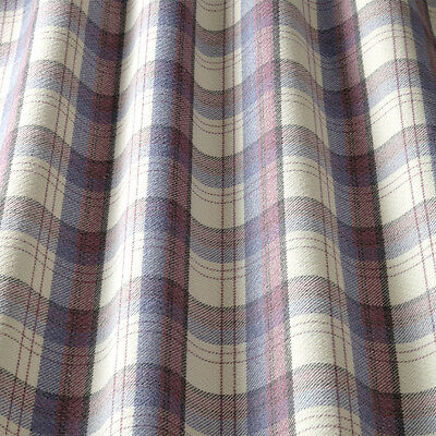 iliv Lana Art Deco Tartan Cornflower Curtain Fabric Lounge//Dining Room etc