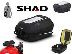 Sacoche de réservoir SHAD E-04P Pin System 3L poches intérieurs smartphone NEUF