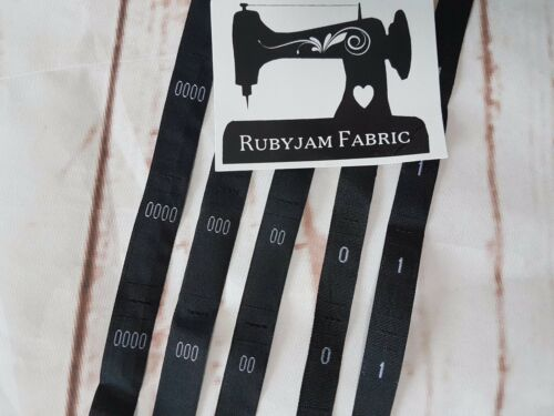 100 pack baby 0000 000 00 0 1 size clothing labels BLACK woven tags FREEPOST AU