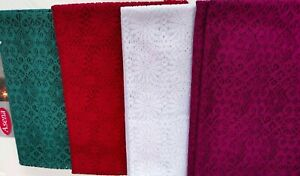 Nappe-Dentelles-au-Crochet-140x220-Hakeltischdecke-Tissu-Vert-Blanc-Rouge-Pour